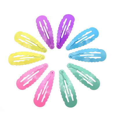 - 10 Pcs/lot Solid Candy Color Girls Hair Clips BB Clips Snap Band Hairpins Kids Hair Accessories - BL Pastel  jetcube