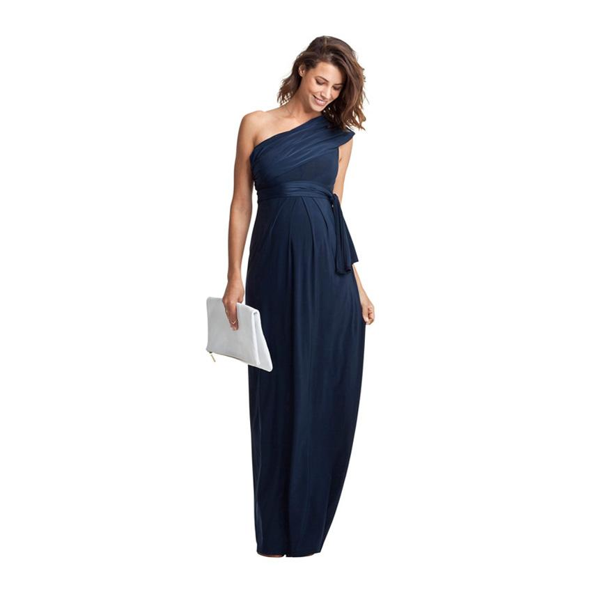 Maternity Dress Fashion Shoulderless Party Wear Ball Gown Pregnant ...