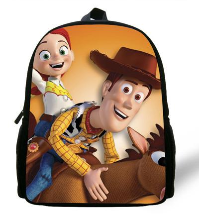 - 12-inch Childlike Toy Story School Bag Cute Buzz Lightyear Backpacks Toy Story Book Bags For Boys and Girl Aged 1-6. - Khaki  jetcube