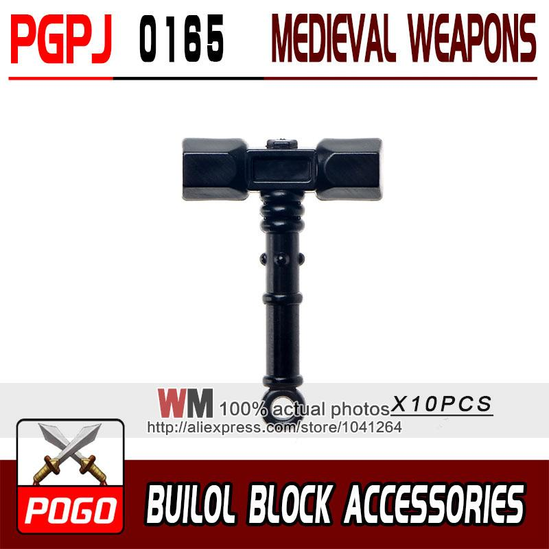 - 10pcs/lot Latest Rome Knight Weapon Sword Accessories Building Blocks Bricks Medieval Knight Weapons - PGPJ0165  jetcube