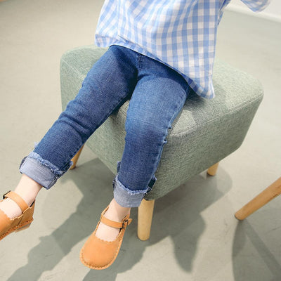 - 0-3 years 2018 Wholesale Spring Denim Solid Baby Pants (pick size )73BT0103 - Default Title  jetcube