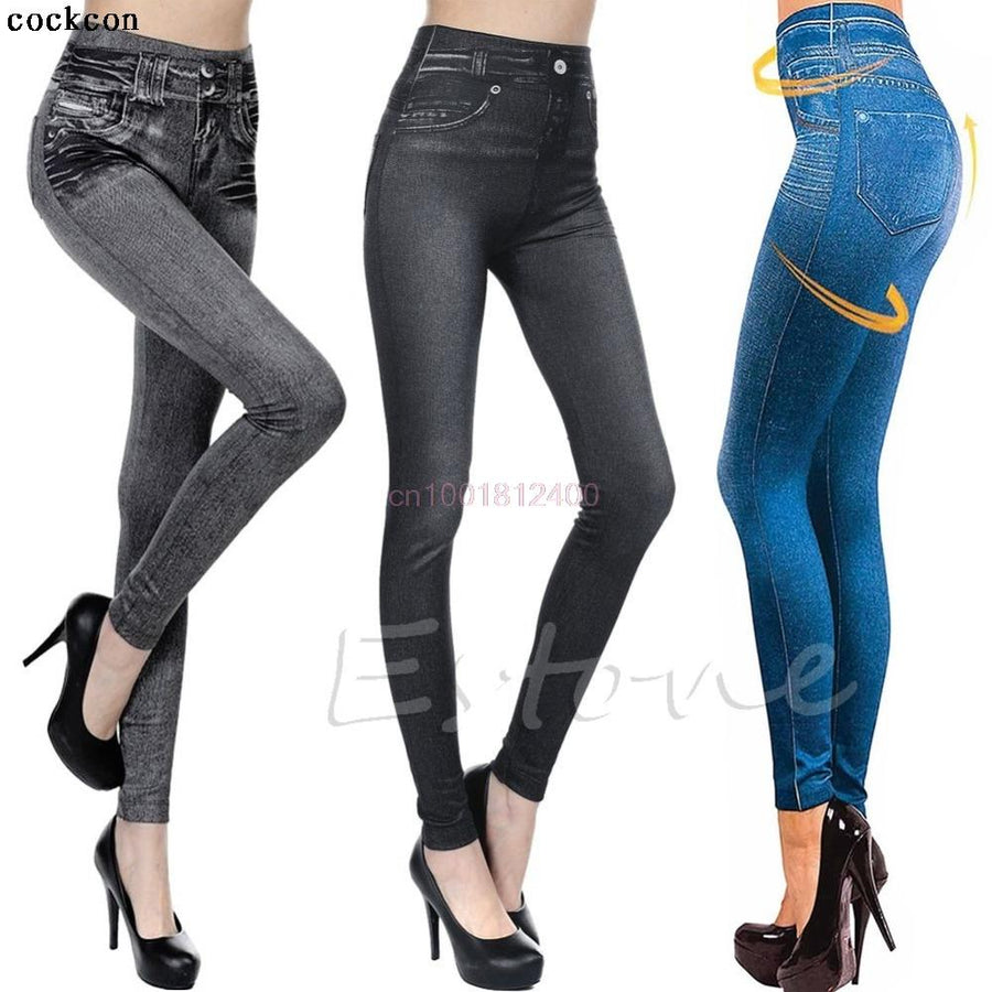 - 1PC Women Jeans Skinny Jeggings Stretchy Denim Pencil Pants Leggings Jeans Tight Trousers -   jetcube