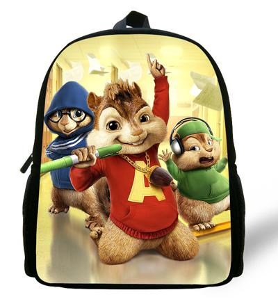 - 12-inch Children Cartoon Bag Alvin and the Chipmunks Backpack Kids Boys Mochila Escolar Infantil Mini School Bags For Girls -   jetcube