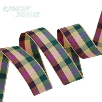 - (5 yards/lot) 25mm Scotish Ribbon Wholesale Lovely gift packing Christmas Ribbons - 1  jetcube