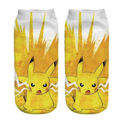 - % New Arrival Kawaii Harajuku Pokemon Pikachu Socks 3D Printed Cartoon Women's Low Cut Ankle Socks Novelty Casual Socks Meias D - 90401 / One Size  jetcube