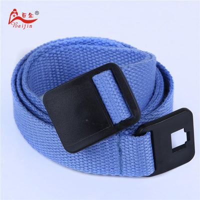 - 2.5cm webbing Waist Belt Candy Color Mens Womens Unisex Plain Webbing Canvas plastic Buckle Belt Personal Tailor - Blue / 100cm  jetcube