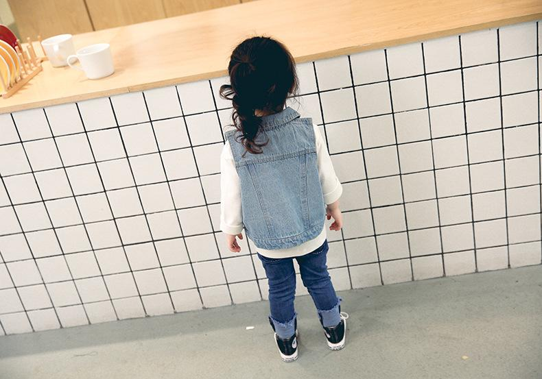 - 0-3 years Wholesale 2018 Kids Spring Denim Baby Vest (pick size)84TP0103 -   jetcube