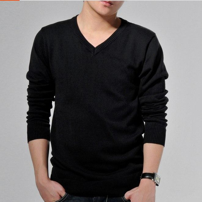 #1304 Spring 2017 Korean Mens sweater Fashion Pull homme marque V neck Sueter hombre Pullover men Jersey Men wool sweaters - Jetcube