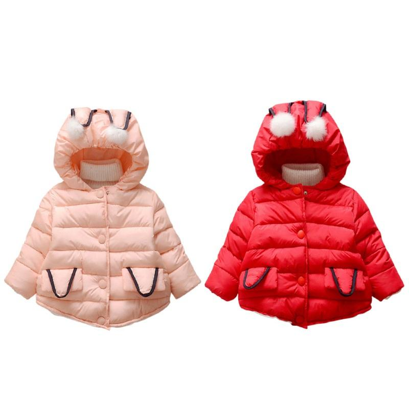 Autumn Winter New Baby Girls Clothes Long Sleeves Solid Hooded Bay Girl Coat Soft Comfortable Infant Girl Clothes j2  UpCube- upcube