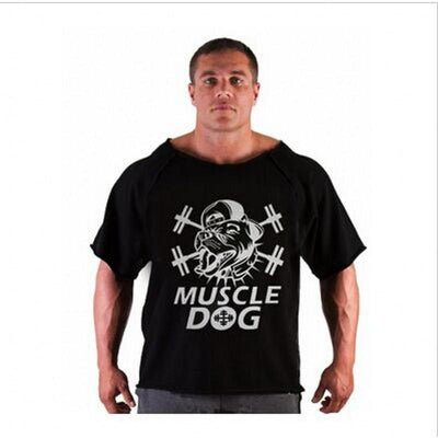 """New uniforms, gold factory new gorilla gold short-sleeved men's fitness and fitness clothing high elastic T-shirt - Jetcube"