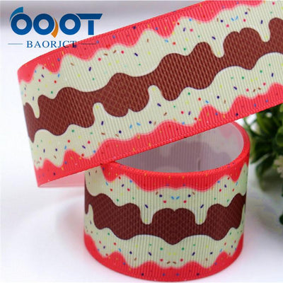 - 1711142,38MM cartoon Printed grosgrain ribbon,DIY handmade jewelry accessories, wedding birthday party gift packaging materials - 12  jetcube