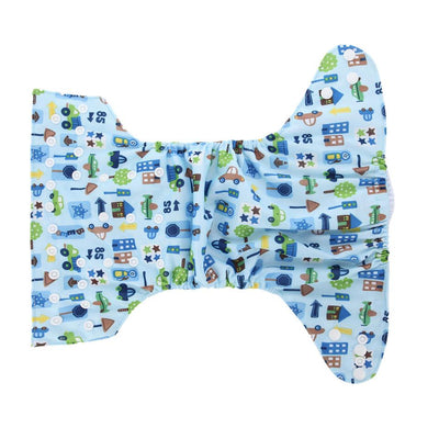 - 10 PCS Washable Diapers Baby Diaper Cover Cartoon Print Baby Nappy Changing Boys Reusable Baby Cloth Diapers -   jetcube