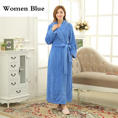 b93155f9b5 Mens Extra Long Thick Warm Winter Bathrobe Silk Soft Waffle Flannel Bath  Robe Men Kimono Robes