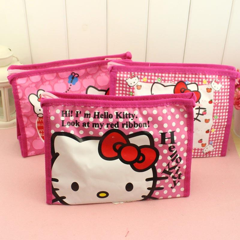 80dfc5caea2a ... Girls Hello Kitty Cosmetic Bags Cute Travel Makeup Organizer Case  Beautician Beauty Suitcase Accessories make up ...
