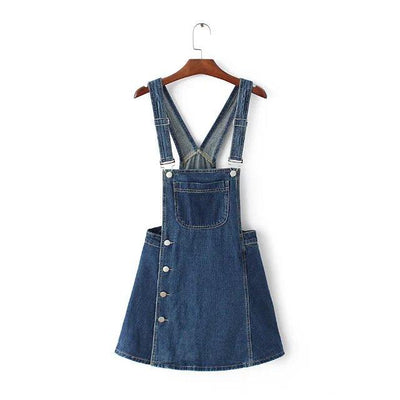2018 harajuku punk kawaii vintage retro style washed one piece denim jumper blue overalls jeans femme culottes