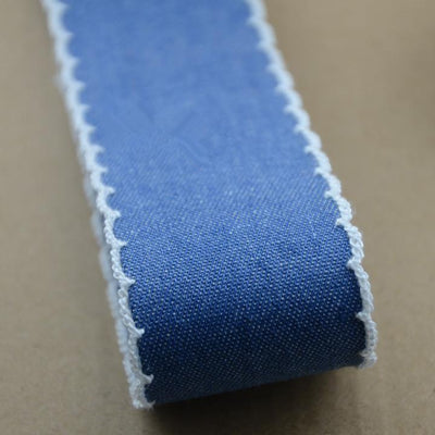 - 10 yards/lot Denim Bowknot Hair Webbing Jeans Ribbon For DIY Cowboy Craft Accessories Materials -   jetcube