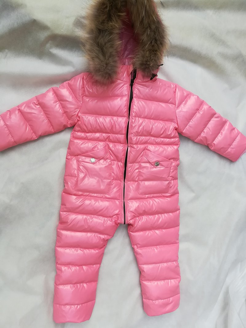 - -30 Winter Snowsuit Baby 80% duck Down Romper Outdoor Infant Overcoat Clothes Girls Overall for Boys Kids Jumpsuit 2~6Y -   jetcube