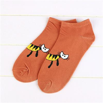 - % 1pair 3D Cartoon animal Cat Socks Women men Socks Fashion Boat Low Cut Style Woman Ankle Socks Casual Female girl boy gift -   jetcube