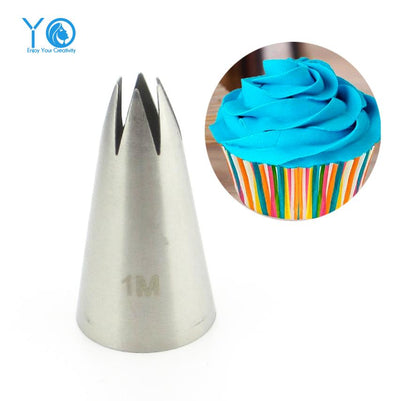 #2110#1M Nozzle Cake Decorating Tips Stainless Steel Writing Tube Icing Nozzle Baking & Pastry Tools Baking Tools For Cakes - Jetcube