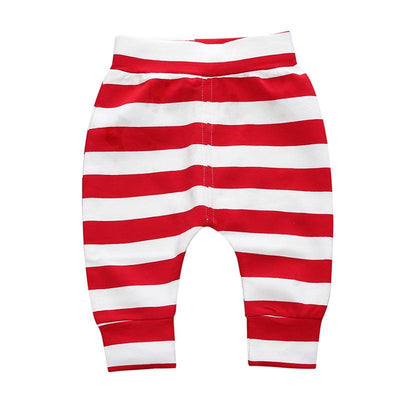 - 0-2 T PP Baby pants Boy trousers Striped printed children trousers harem pants Can open the children's pants Autumn/Spring - Boy Shorts 6 / 12M  jetcube