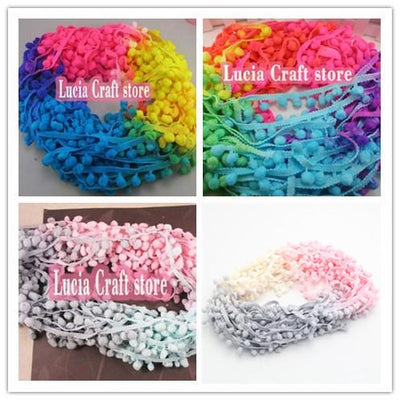 - 2*2y 7mm Width Pompom Ball Trims 2*2y/pack 17010704(7D4y) -   jetcube