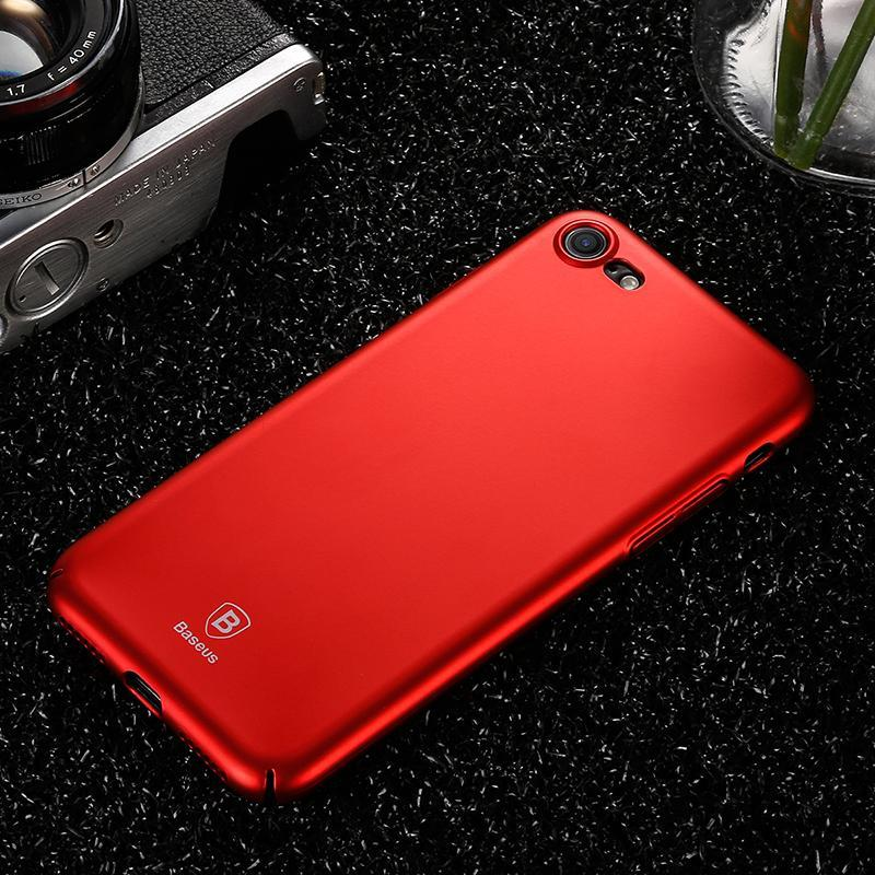 Baseus Luxury Smooth Red Case For iPhone 7 7 Plus X 6 6s Plus Case Thin Hard PC Plastic Phone Cover For iPhone X 8 8 Plus Cases  upcubeshop- upcube