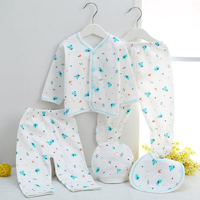 - 0-3M Newborn Infant Baby Girls boys Clothes Long-sleeved shirt,pants,hat,scarf 7pcs 5pcs Outfit Kids Clothing Set Factory cheap - 5PCS 08 / 3M  jetcube