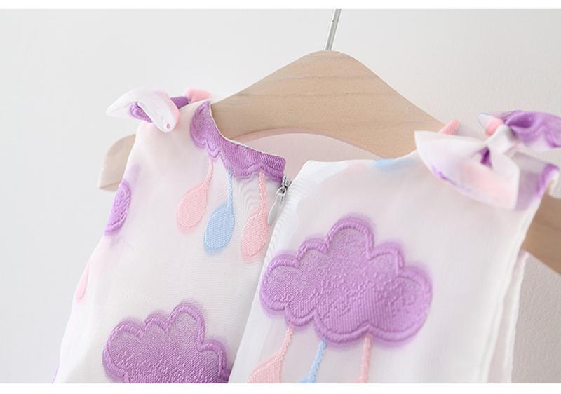 653c65c4c Baby Girl Dress For 0-2T Infant Baby Lovely Cloud and Rain Weather ...