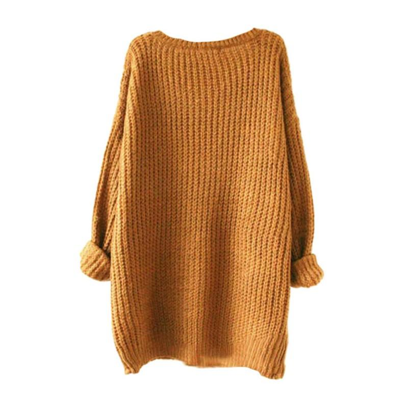2017 Autumn Spring Women Sweaters Mixed Color Wool Women's Comfort Knitted Pullover Sweater Fashion O-Neck Long Sleeve Tops