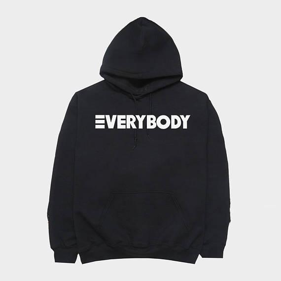 5XL Everybody Logic New Men/'s Hoodie Hooded Sweatshirt Black w// White Sizes S