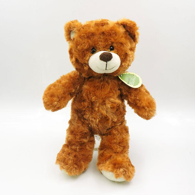 - (1 piece) 30cm Small Cute Teddy Bears Stuffed Animals Soft Plush Toys White Beige Brown Hold Bears Bow/Necklace Randomly Deliver - dark brown 18cm / full 30cm  jetcube