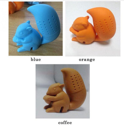 - 2016 High Quality Cute Squirrel Shape Tea Infuser Loose Leaf Strainer Tea Bag Holder Cup Mug Filter Friends Applied -   jetcube