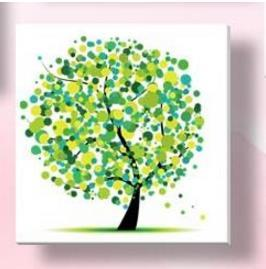 - % Flower arranging 5D diamond Painting flowers tree Cross Stitch diamond embroidery mosaic diamonds wall stickers home decor - Green / 30*30cm  jetcube