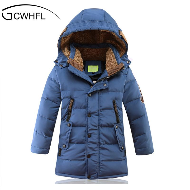 - -30 Degree Children's Winter Jackets Duck Down Padded Children Clothing 2018 Big Boys Warm Winter Down Coat Thickening Outerwear -   jetcube