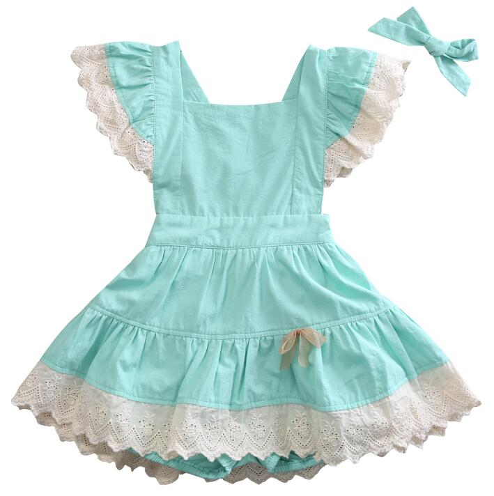 Cute Toddler Baby Kids Girls Dresses Lace Ball Flower Party Backless Cute Dress Girl Sundress New Summer Clothes 6M-4T