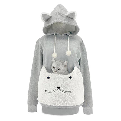 Cat Lovers Hoodie Kangaroo Dog Pet Paw Dropshipping Pullovers Cuddle Pouch Sweatshirt Pocket Animal Ear Hooded