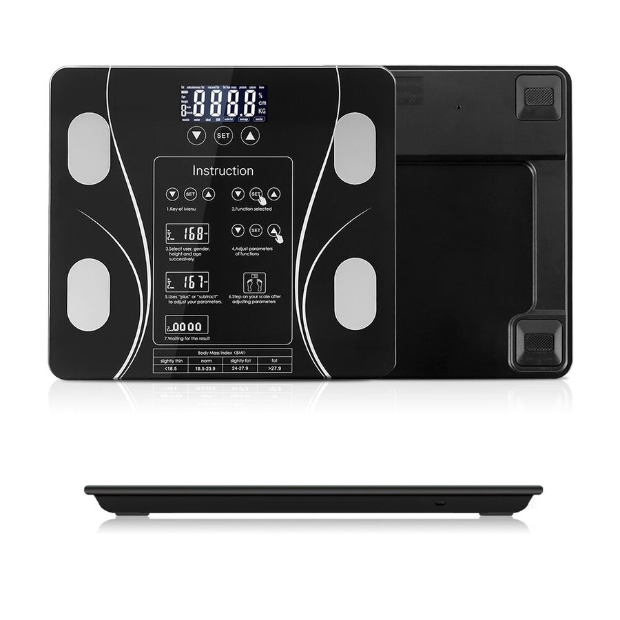 Body Fat Bathroom Scale Floor Scientific Smart Electronic LED Digital Weight Household weighing balance connect Composition