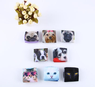 Socks - % Hot Cute 3D Cartoon animal Cat dog Socks Striped Pattern Women Men kids Cotton Sock Female Socks Fashion Casual Short Socks -   jetcube