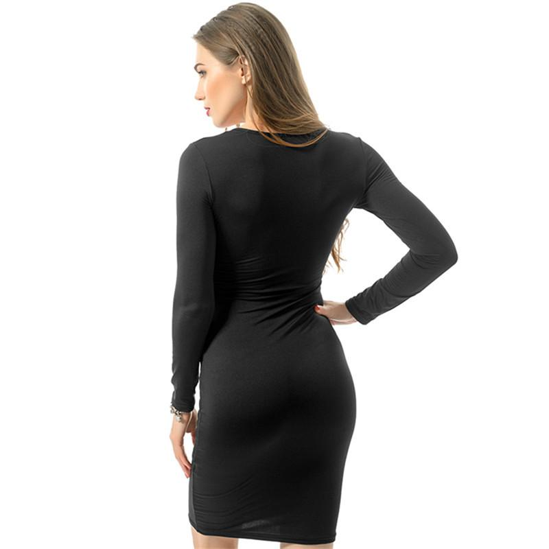 Hot Sexy Bodycon Bandage Dress Plus Size 2016 Womens Autumn Long