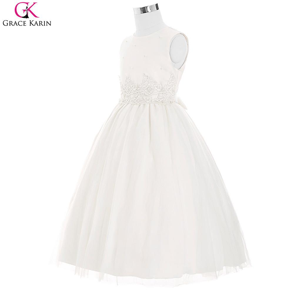 Ivory Pink Flower Girl Dresses For Wedding Grace Karin Pageant
