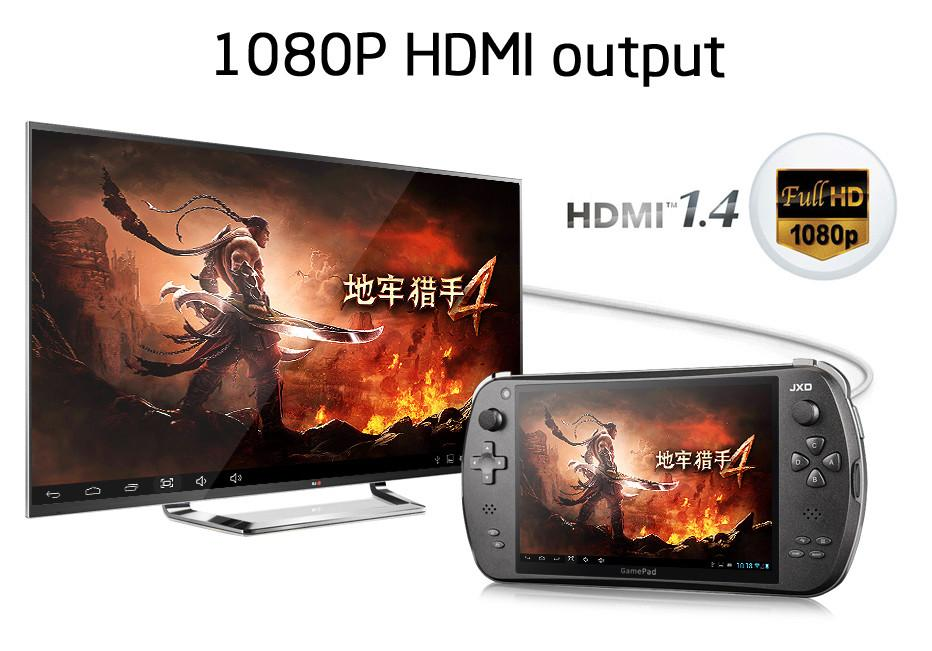 JXD S7800B 7-inch Duad Core 16 GB Smart Game Console 2GB RAM 1280X800 IPS  Dual Camera Tablet Android 4 4 4 Handheld Game Console