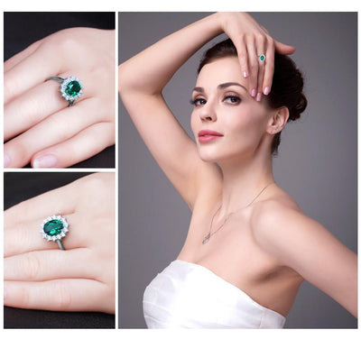 Princess Diana Wedding Ring.Jewelrypalace Princess Diana William Kate Middleton S 2 5ct Created Emerald Ring Solid 925 Sterling Silver Rings