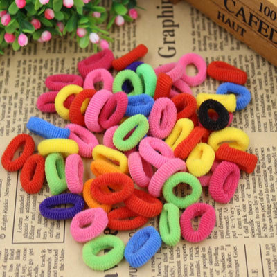 Hair Accessories - (KAKU23) 2015 New Fashion Child Baby Smal Hair Ring Rubber Bands Hair Holders Elastics Girl's Tie Gum Mix Color Free Shipping -   jetcube