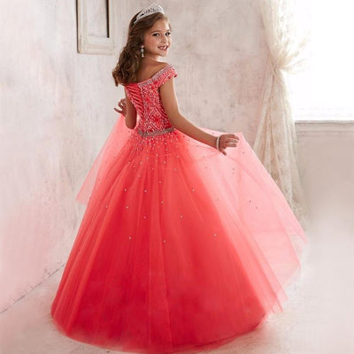Kids Pageant Ball Gown Dress Girls Pageant Interview Suits Long ...