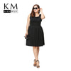 KissMilk 2017 Women Plus Size A-Line Summer Strapless Vintage Elegant Big Large Size  3XL 4XL 5XL 6XL Slim Dress