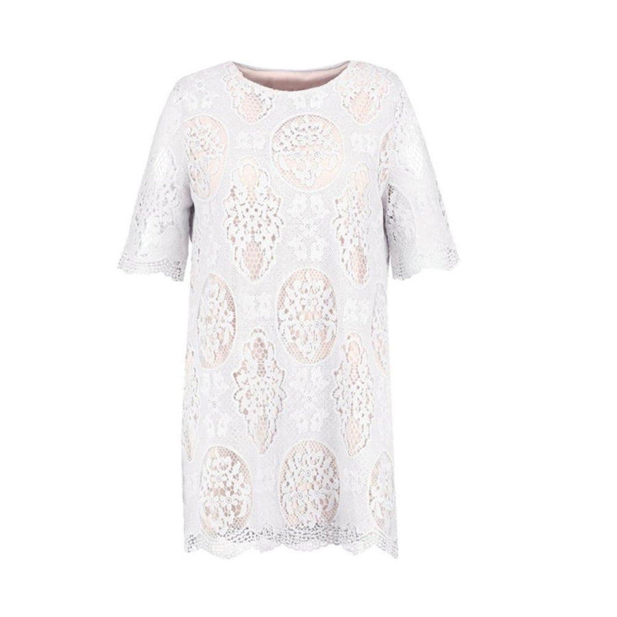 Kissmilk 2017 Big Size New Fashion Women Clothing Casual Solid Lace Basic Summer Dress O-Neck Plus Size Dress 4XL 5XL 6XL