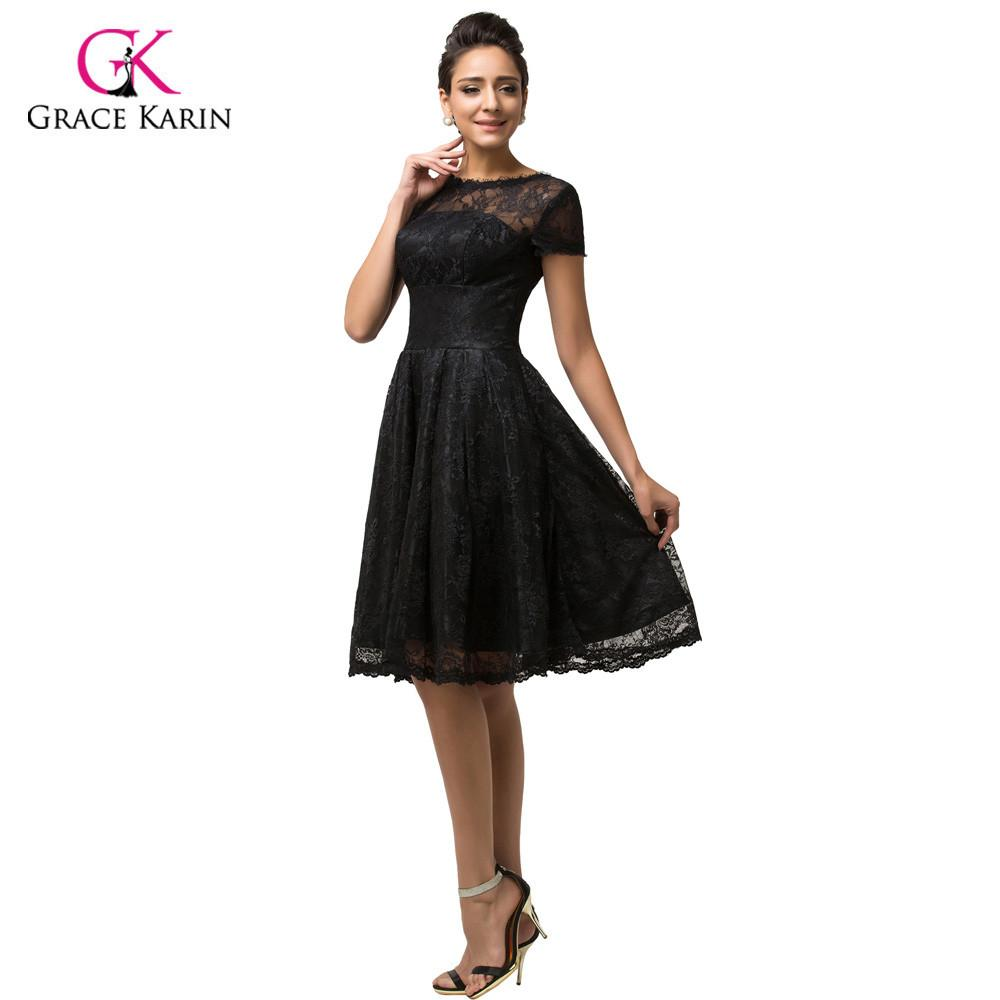 Lace Prom Dresses Grace Karin cheap 2017 Women Black formal Party ...