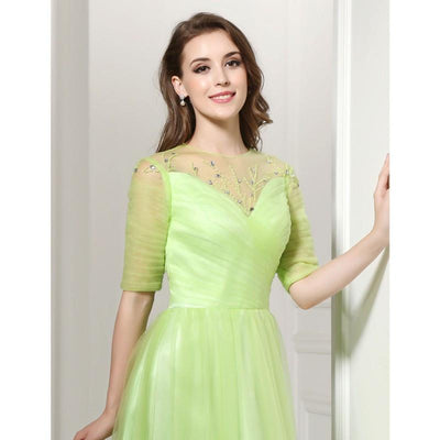 Lime Green Prom Dresses Sale Cheap Prom Gowns 2017 Beads A Line Plus