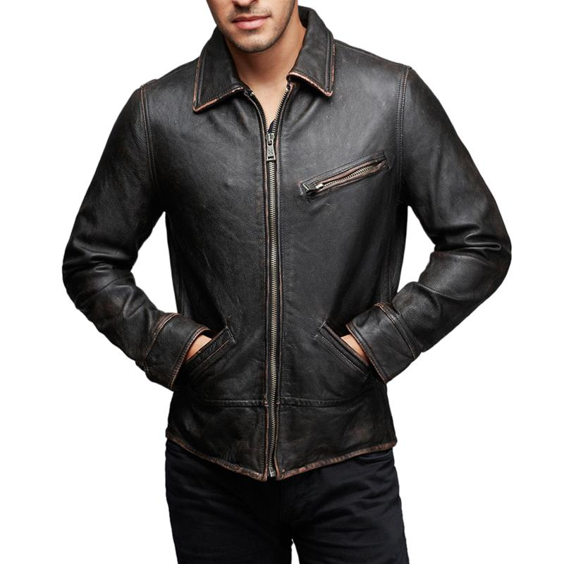 Awesome Shirt Men Handmade Red 100/% Pure Genuine Lambskin Leather Party Wear 433