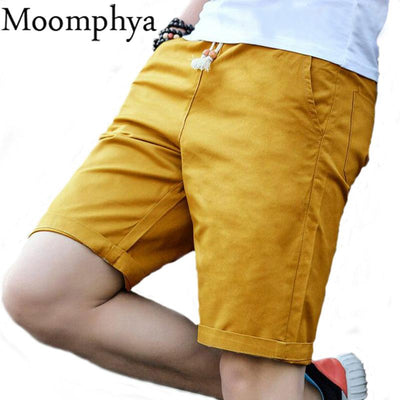 Moompya Men summer cotton shorts fashion brand boardshorts breathable male casual shorts comfortable cool short pants Plus Size